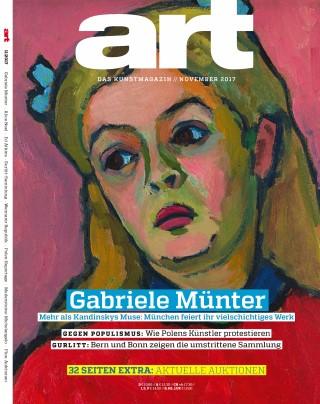 Titelbild art-Magazin November 2017